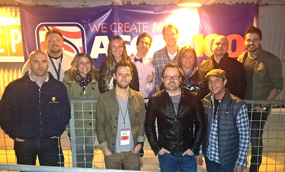 Pictured (Front row, L-R): ASCAP's Robert Filhart, songwriters Aaron Eshuis and Deric Ruttan, and ASCAP's Michael Martin. (Back row, L-R):Songwriter Josh Osborne, City National Bank's Mandy Gallagher, ASCAP's Evyn Mustoe, and songwriters JT Harding, Matt Jenkins, Marla Cannon-Goodman, Jon Nite and Matthew McGinn.