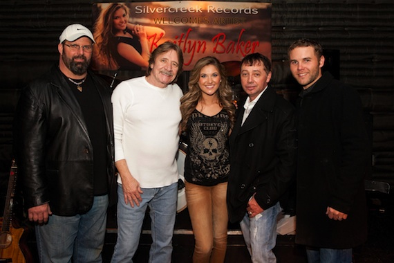 Pictured (L-R): Scott Arnold (manager/producer), Steve Pope (Silvercreek Records V.P.), Kaitlyn Baker, Stafond Seago (Silvercreek Records president) and Kaleb Payne (Silvercreek Records V.P.).