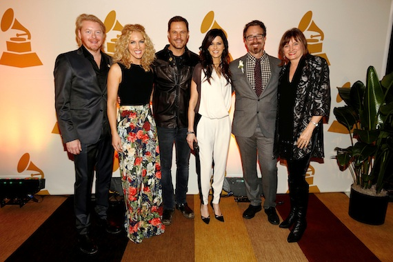 Pictured: Little Big Town with Nashville Chapter President Jeff Balding and Recording Academy Chair of the Board of Trustees Christine Albert. Photo: Ed Rode