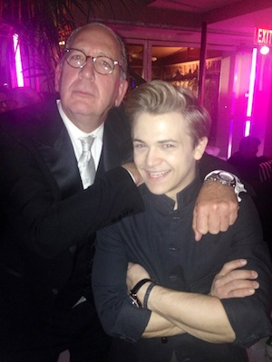 Hunter Hayes and John Esposito celebrate at The Warner Music Group post party at Sunset Towers.