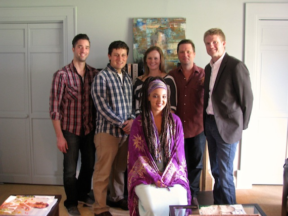 Pictured, Standing (L-R): Kevin Lane (BMG Chrysalis Creative Director); Daniel Lee (BMG Chrysalis Senior Creative Director); Sara Johnson (BMG Chrysalis Senior Creative Director); John Allen (BMG Chrysalis Vice President); Kos Weaver (BMG Chrysalis Executive Vice President); (Seated): Naia Kete