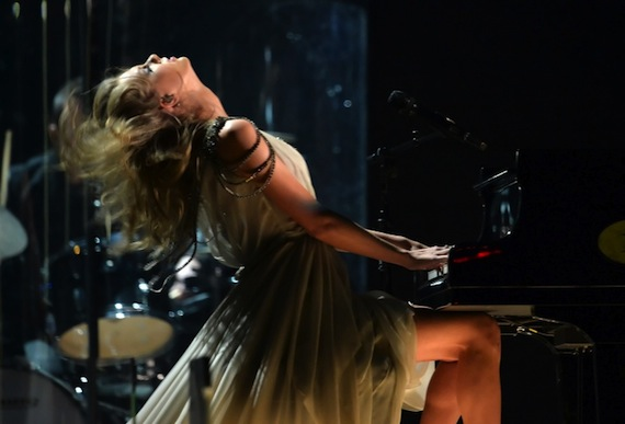 """Swift plays """"All Too Well"""" on last night's Grammy Awards."""