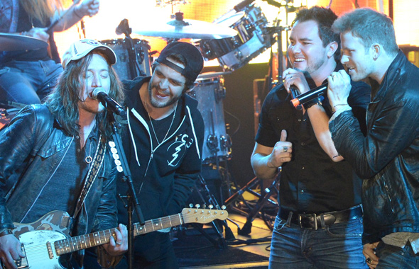 The Cadillac Threee is joined by Thomas Rhett, Eli Young Band's Mike Eli, and Florida Georgia Line's Brian Kelley.