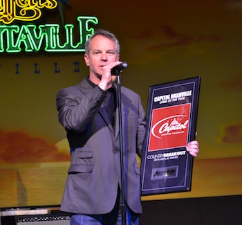 Steve Hodges accepts Capitol Nashville's ninth consecutive award for Label of the Year.
