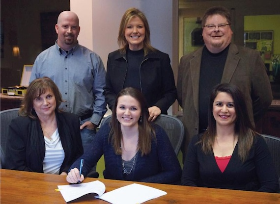 Front Row: (L-R): Denise Nichols, The Primacy Firm, PLLC; Cassidy Lynn; Denise Stevens, Senior Counsel, Loeb & Loeb LLP. Back Row: (L-R): Wayne Milligan, Tri Star Sports and Entertainment Group; Cindy Owen, Partner, Given Entertainment; Mike Sebastian, VP/General Manager, Given Music Publishing.