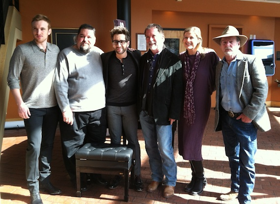 Pictured (L-R): Steven Gallagher (Co-writer, SESAC), Tim Fink (VP, Writer/Publisher Relations,  SESAC), Will Champlin, Dennis Lord (Executive VP, SESAC), Shannan Tipton-Hatch (Senior Director, Writer/Publisher Relations, SESAC), Sam Tate (Hit songwriter, SESAC)