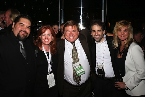Pictured (left to right): SESAC's Tim Fink, producer Laura Huie, AristoMedia's Jeff Walker, DigSin's Jay Frank and SESAC's Ellen Truley.