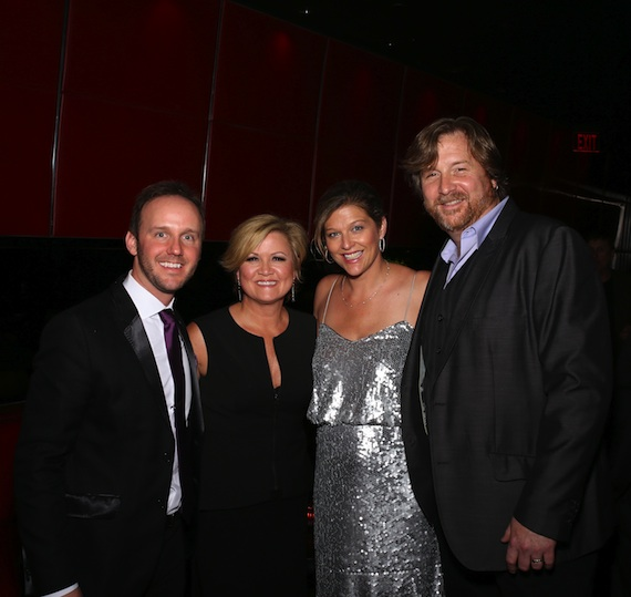 Pictured (L-R): This Music Publishing's Rusty Gaston, songwriter Connie Harrington, Shannan Hatch and songwriter and publishing executive Jon Mabe.