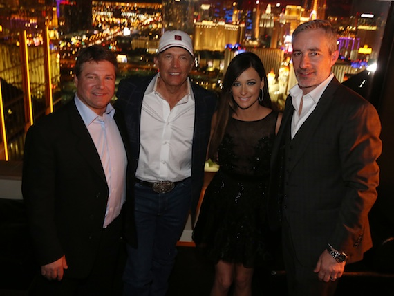 Pictured (L-R): UMG Nashville SVP/COO Tom Becci; George Strait; Kacey Musgraves and UMG Nashville Sr. VP, A&R Brian Wright