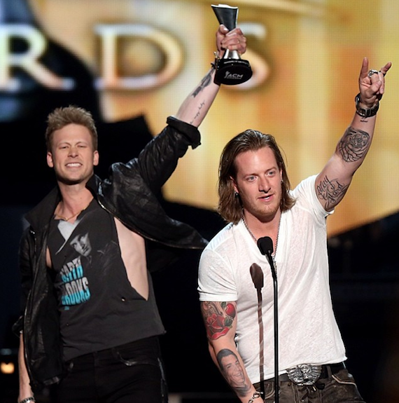 Florida Georgia Line wins Vocal Duo of the Year. Photo: ACM