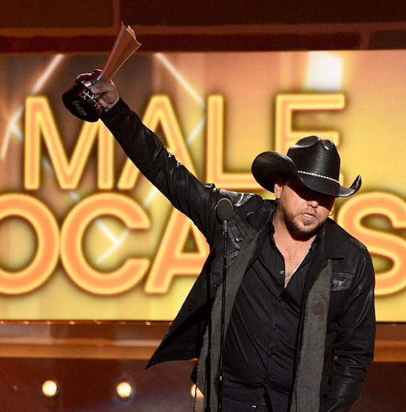 Jason Aldean wins Male Vocalist of the Year. Photo: ACM