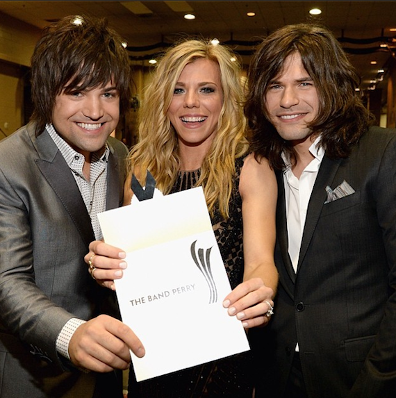 The Band Perry wins Vocal Group of the Year.