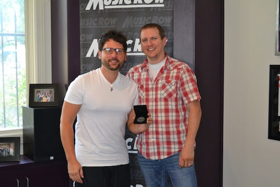Pictured (L-R): Songwriter Chris DeStefano and MusicRow chart director Troy Stephenson.