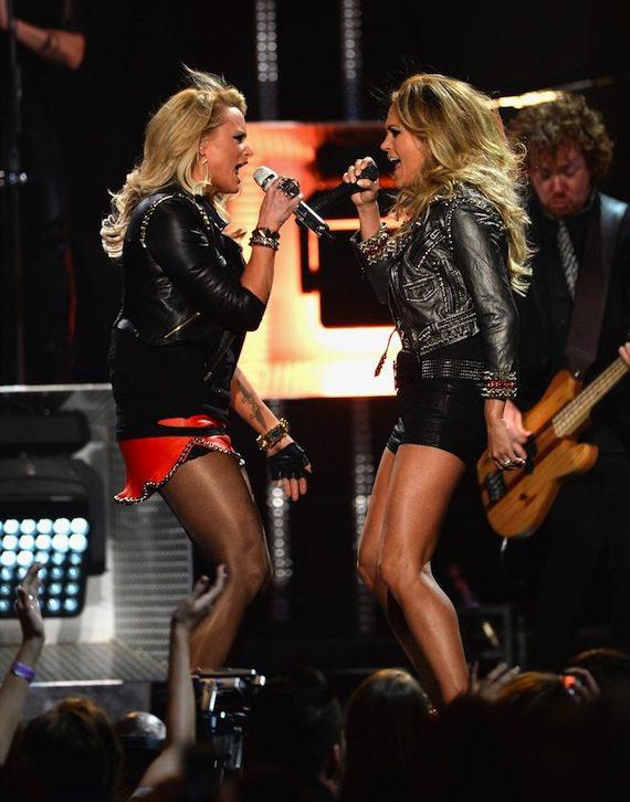 "Lambert and Underwood debut ""Somethin' Bad."""