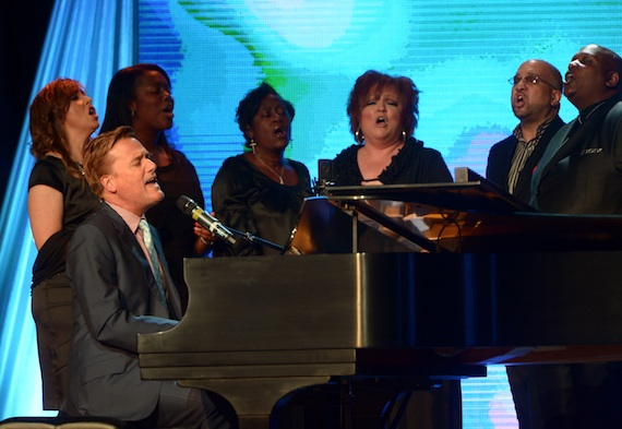 Michael W. Smith performs.