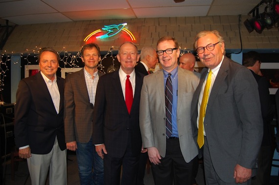 BMI Songwriter Tom Douglas Joins Senators Alexander, Corker and Hatch in Vital Music DiscussionsPictured L-R at the meeting in Nashville to discuss Senatorial support for songwriters are: Smith-Free Group's Tim Locke; BMI songwriter and President of the Nashville Songwriters Association Lee Thomas Miller; BMI songwriter Tom Douglas; Senator Bob Corker; Senator Orrin Hatch; Senator Lamar Alexander; BMI Vice President, Writer/Publisher Relations, Nashville, Jody Williams; and BMI  Senior Vice President and General Counsel Stuart Rosen.