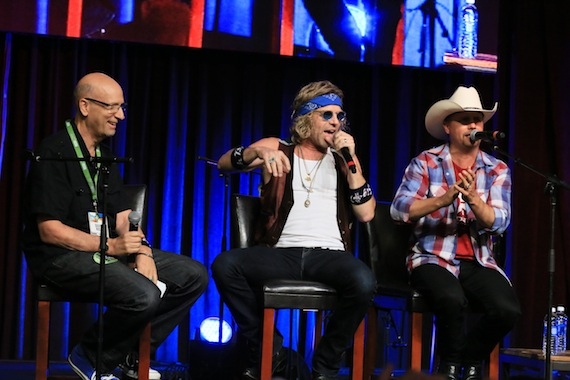 David Ross interviews Big and Rich. Photo: Moments By Moser