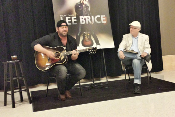 "Robert K. Oermann interviews Lee Brice about his upcoming album, ""I Don't Dance."""