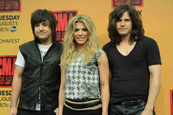 The Band Perry backstage at LP Field. Photo: Moments by Moser