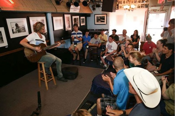 Casey James performs at the Bluebird Cafe.