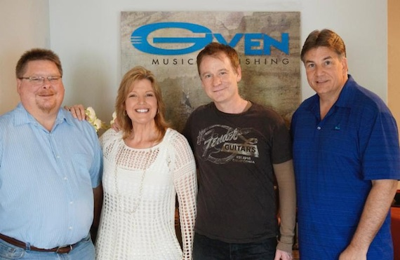 Pictured (L-R): Given Music Publishing VP/GM Mike Sebastian; Given Entertainment Partner Cindy Owen; Clay Mills; Given Entertainment partner Jim Kacmarcik.