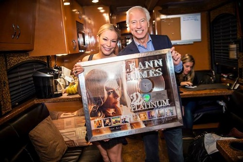 Cary Sherman, Chairman and CEO, RIAA presented plaques to LeAnn Rimes with a Gold & Platinum Program career award commemorating more than 22 millon certified music sales in the United States recently in Washington D.C.
