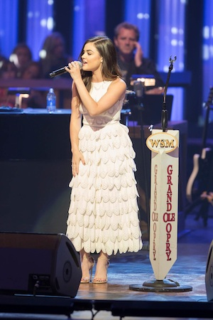 Lucy Hale at the Grand Ole Opry. Photo: Chris Hollo