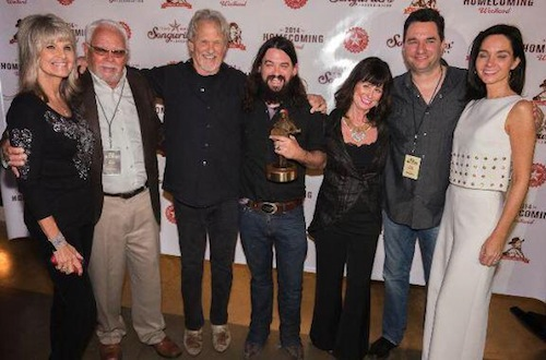Kris Kristofferson, Jessi Colter and Shooter Jennings with other attendees.