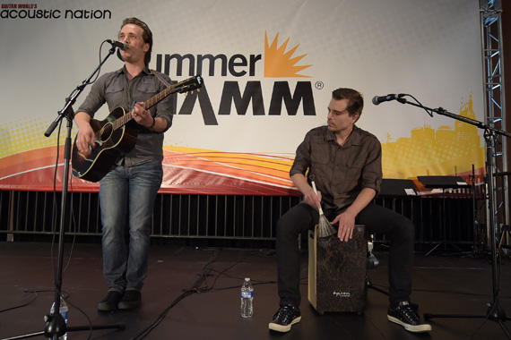 Singer/Songwriter/Actor Jonathan Jackson and brother Singer/Songwriter Richard Jackson attend Music Industry Day At Summer NAMM. Photo: Rick Diamond/Getty Images for NAMM