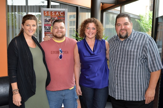 Pictured (L-R):  SESAC's Shannan Hatch, Wilson, Magic Mustang Publishing Juli Newton Griffith and SESAC's Tim Fink. Photo: Peyton Hoge