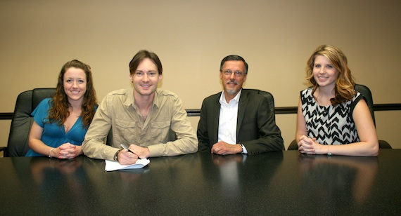 Pictured (L-R): SGM's Ashley Hamlin, Ryan Laird, SGM President Mike Mouret, and SGM's Danielle Thorn.