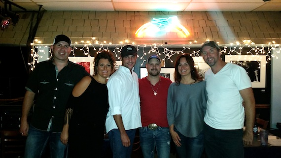 Pictured (L-R): Keith Walker, Hannah Dasher, ASCAP's Michael Martin, Aaron Goodvin, ASCAP's LeAnn Phelan, and Christopher Roberts. 