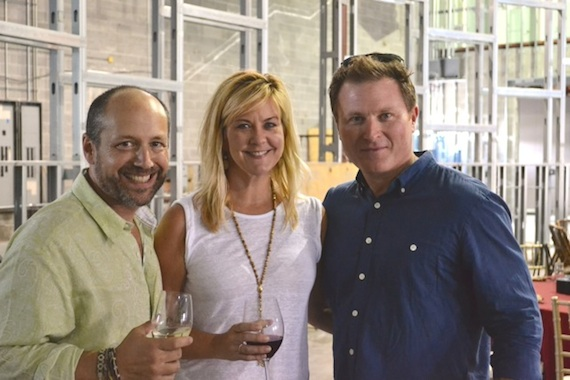 Pictured (L-R):  City Winery's Michael Dorf, SESAC's Ellen Truley and actor Todd Truley.