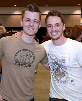 Recording Artists Chase Bryant and Greg Bates attend Music Industry Day At Summer NAMM. Photo: Rick Diamond/Getty Images for NAMM