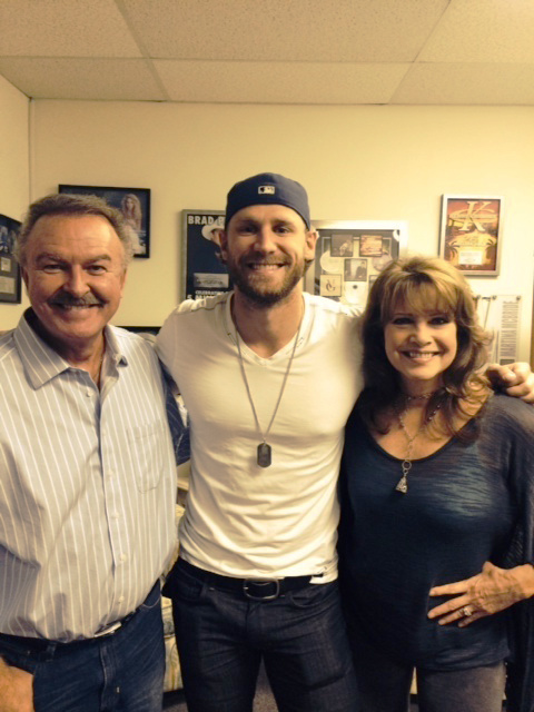 Pictured (L-R): Charlie Chase, Chase Rice, Lorianne Crook