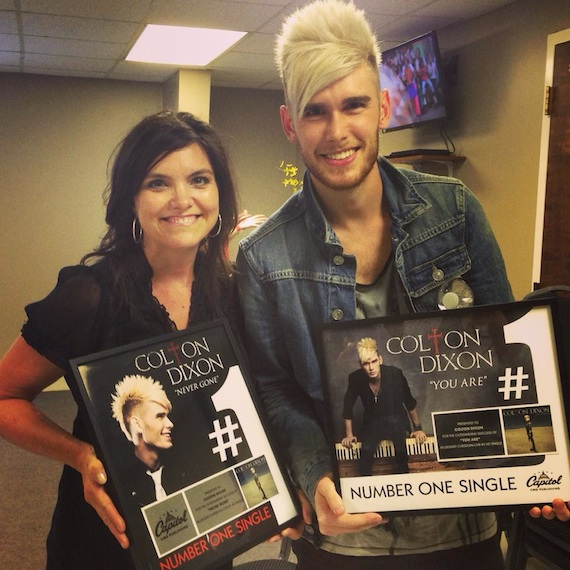 Pictured: Capitol CMG Publishing's Senior Creative Director Stacey Willbur with Capitol CMG recording artist Colton Dixon.