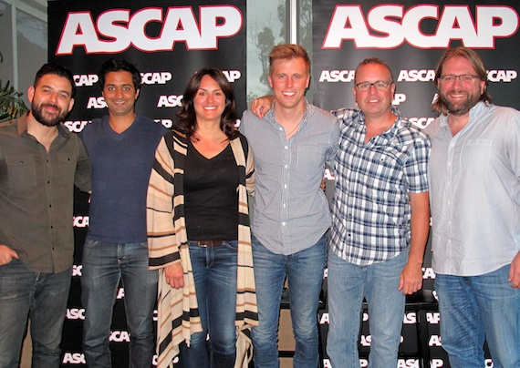 Pictured (L-R): Downtown Music Publishing's Danny Berrios, Music Ro Management's Rohan Kohli, ASCAP's LeAnn Phelan, Andy Albert, Downtown Music Publishing's Steve Markland and attorney Chip Petree.