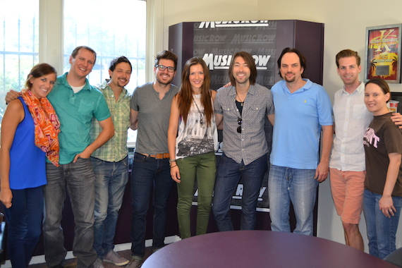 The Railers with MusicRow staffers.