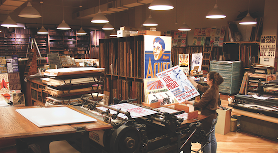 Hatch Show Print. Photo courtesy of the Country Music Hall of Fame