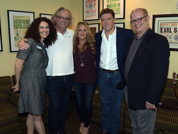 Pictured (L-R): The Country Music Hall of Fame and Museum's Abi Tapia and Kyle Young, Lee Ann Womack, Frank Liddell, and the Country Music Hall of Fame and Museum's Michael McCall. Photo: Rick Diamond.