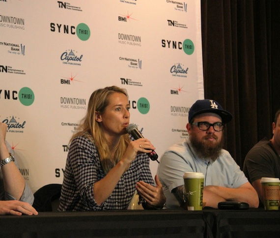 Pictured (L-R): ChopShop music supervisor Kasey Truman and Trailer Park music supervisor Toddrick Spalding participate in panel discussions.