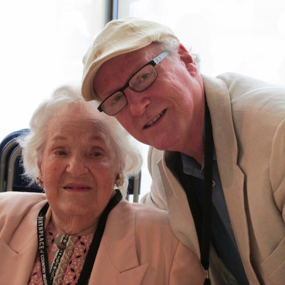 Georgia Warren, the last living member of the 1927 Bristol sessions, with Robert K. Oermann. Photo: Mary Bufwack