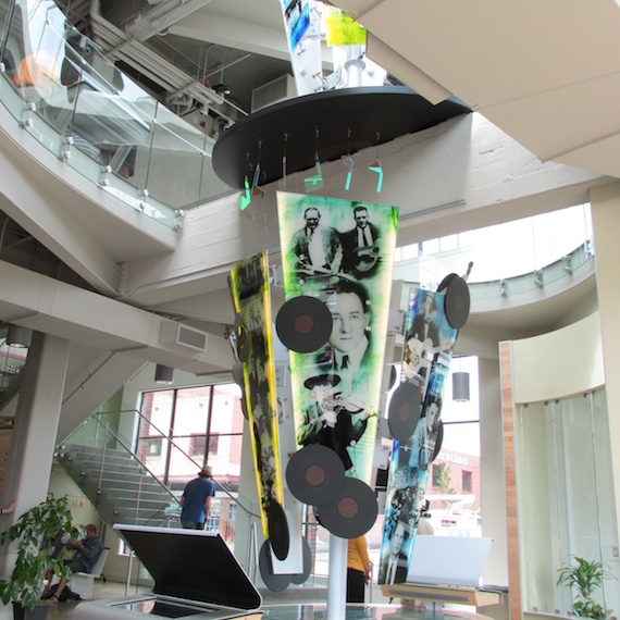 Artwork greets visitors in the lobby of the new museum. Photo: Mary Bufwack