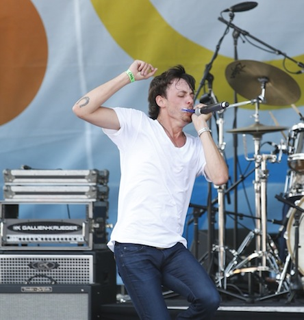 Chris Janson performs at the Bud Light Stage at Bridgestone Arena Plaza on Friday, June 6 during the 2014 CMA Music Festival in downtown Nashville.