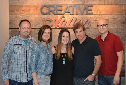Pictured (L-R): Jeff Skaggs (Creative Nation), Beth Laird (Creative Nation), Natalie Hemby, Scott Cutler (Pulse), Luke Laird (Creative Nation)