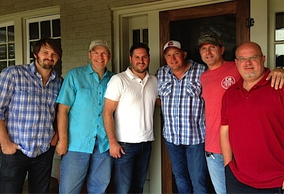Pictured (L-R): Jake Gear, Mike Owens, Freeman Wizer, White, Chris DuBois and Marc Driskill
