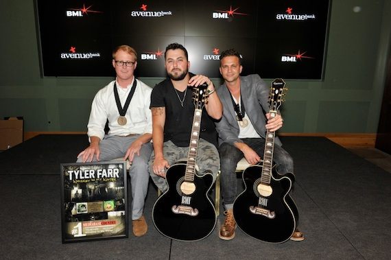 Pictured (L-R): John Ozier, Tyler Farr, Phillip Larue. Photo: Frederick Breedon