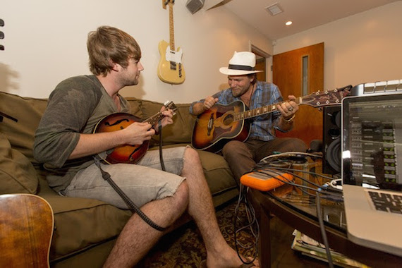Pictured (l-r): Jimmy Robbins and Gloriana's Tom Gossin Photo: Ed Rode