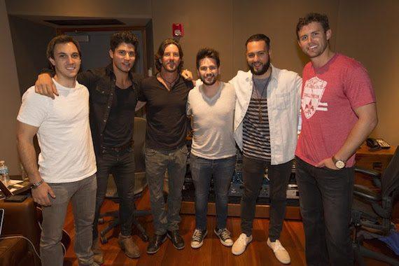 Pictured (l-r): ASCAP's Evan Trindl, Dan+Shay's Dan Smyers, Brett James, Dan+Shay's Shay Mooney, Robopop and Warner/Chappell Music Publishing's Ryan Beuschel Photo: Ed Rode