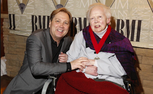Steve Wariner and Velma Smith at the 2014 Musicians Hall of Fame and Museum Induction Ceremony  in January 2014. Photo courtesy of the Musicians Hall of Fame and Museum.